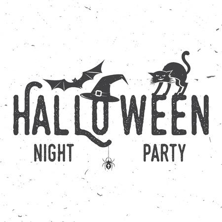 Glückliches, Gruseliges Halloween-Party-Konzept. Vector Halloween ...
