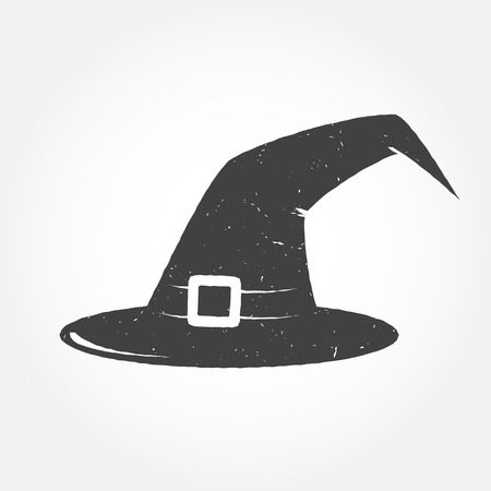 Halloween hat outline icon. For web design, banner, flyer, mobile and application interface, also useful for infographics. Halloween hat isolated on white background.