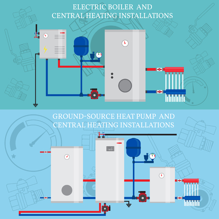 Electric Boiler And Central Heating Installations, Flat Heating ...