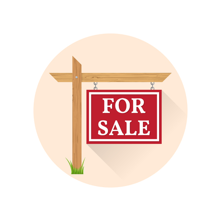 For sale Icon on the white background. For web and mobile, modern minimalist flat design. Vector illustration.
