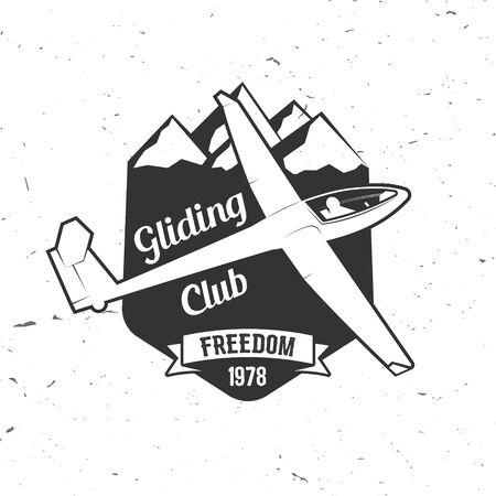 Vector Gliding club retro badge. Иллюстрация