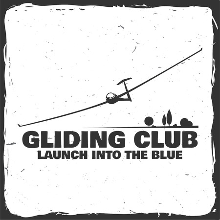 Vector Gliding Club retrò distintivo.