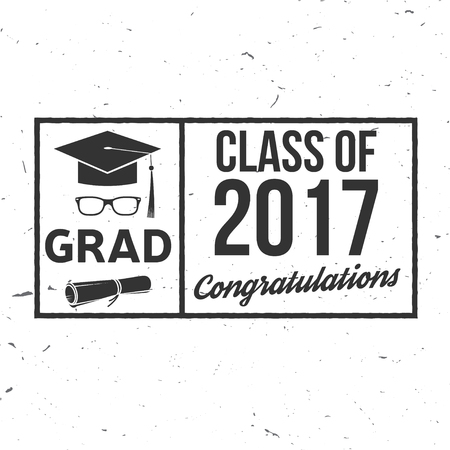 Vector Class of 2017 badge. Illustration