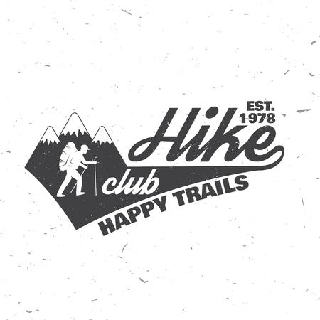 Hike club Happy trails.