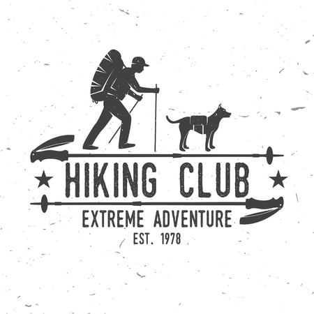 Hiking club Extreme adventure. Illustration
