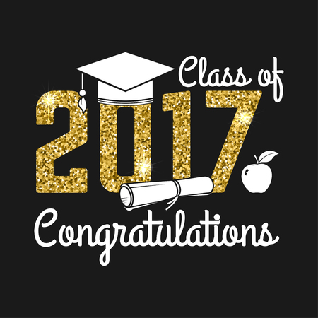 Classe vettoriale del distintivo 2017.