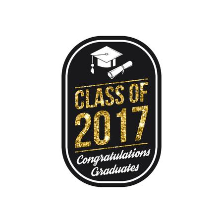 Vector klasse van 2017 badge.