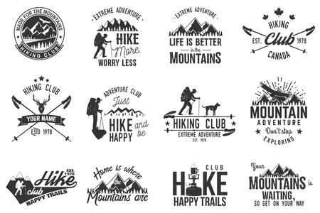Hiking club badge. 版權商用圖片 - 74728775