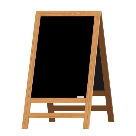 Menu Black Board. Vector illustration.