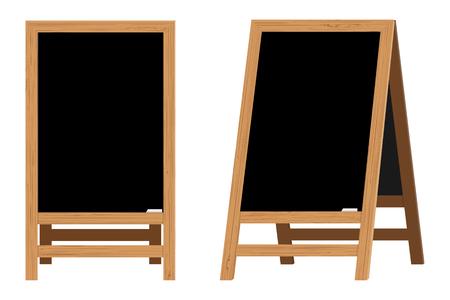 Set of Menu Black Boards. Ilustrace