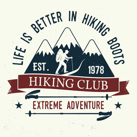 Life is better in hiking boots. Illustration