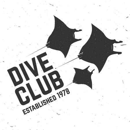 スキューバ ダイビング クラブ。ベクトルの図。  イラスト・ベクター素材