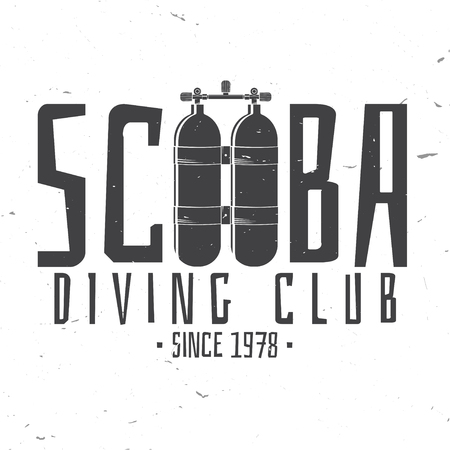 Scuba diving club. Vector illustration.
