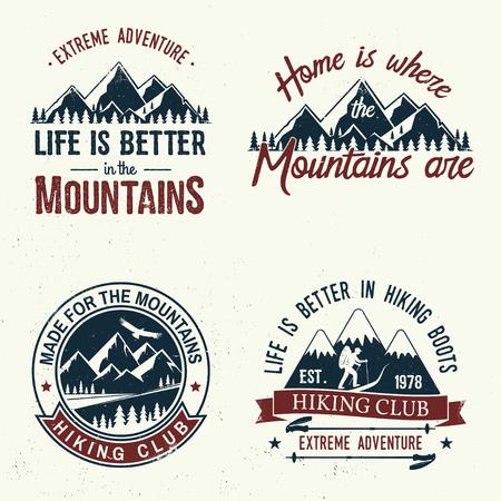Set of extreme adventure badges. Ilustração