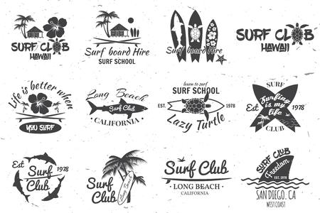 Surfclub und Surfschule Design.