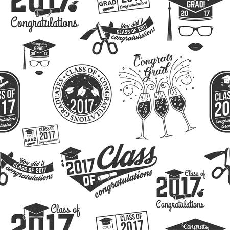 Class of 2017 badge.