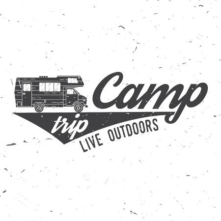 Camp trip live outdoors illustration.  イラスト・ベクター素材