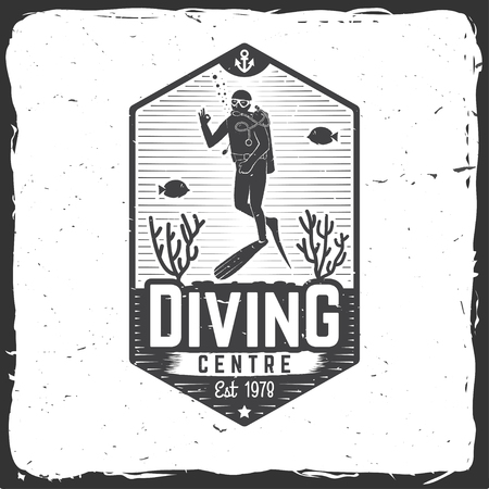 Diving centre. Vector illustration.