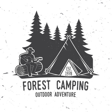 hiking: Camping extreme adventure . Vector illustration. Illustration