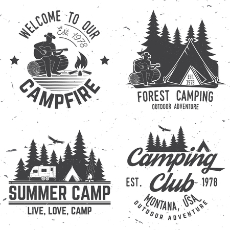 mountaineering: Camping extreme adventure . Vector illustration. Illustration