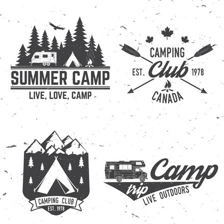極端な冒険のキャンプ。ベクトルの図。  イラスト・ベクター素材