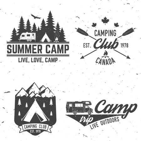 Camping extreme adventure . Vector illustration. 向量圖像