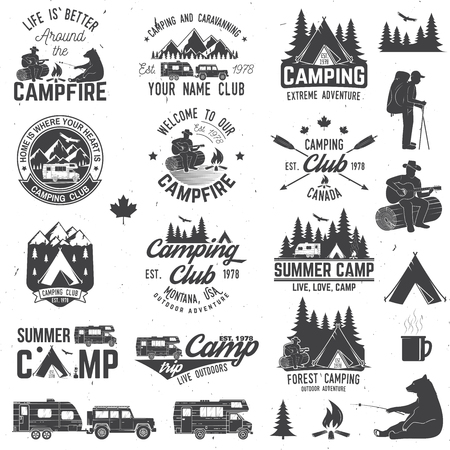 Summer camp. Vector illustration. Concept for shirt or logo, print, stamp or tee. Illusztráció