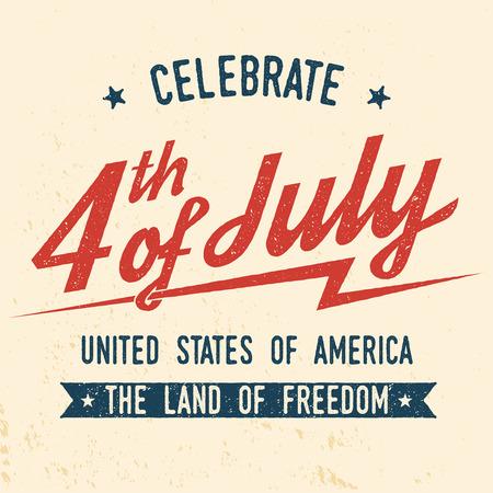 4th of july design in retro style.