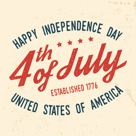 4th of july design in retro style.
