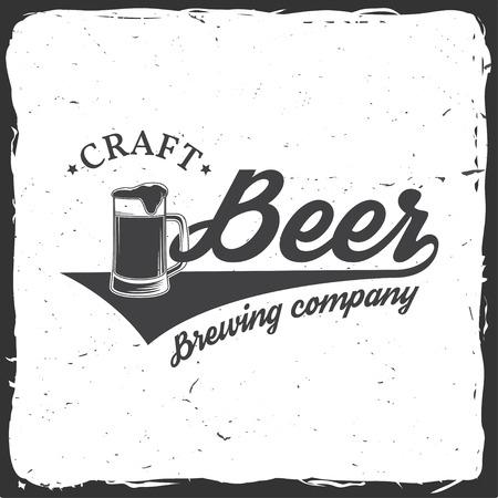 beers: Vintage design for bar, pub and restaurant business. Illustration