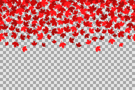 Seamless pattern with stars for 1st of July celebration on transparent background. Canada Day.
