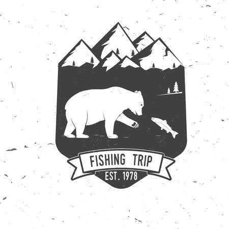Fishing trip. Vector illustration.