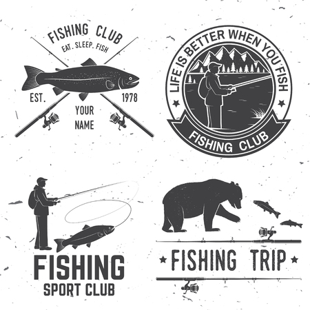 Life is better when you fish. Vector illustration.