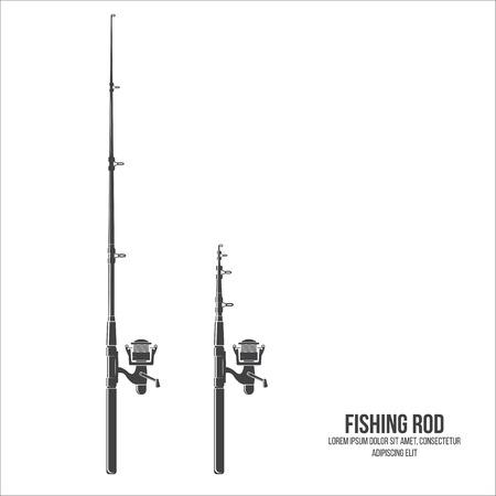 Fishing rod isolated on the white background. Illustration
