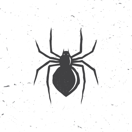 Spider silhouette in retro style.