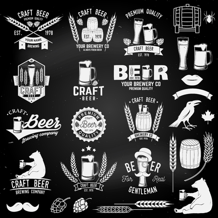 Vintage design for bar, pub and restaurant business. Ilustrace