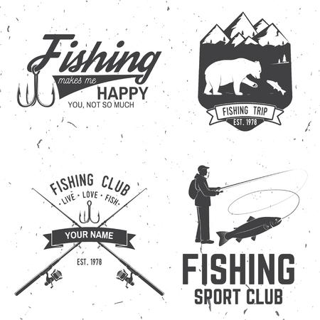 Vector illustration of Fishing Club Logos Illustration