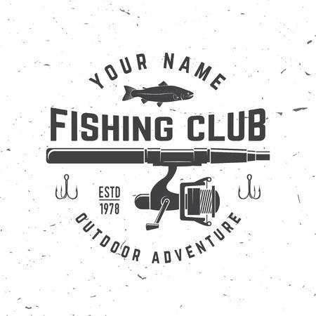 Club deportivo de pesca. Ilustración del vector. Foto de archivo - 81300733