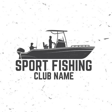 Sport Vissersclub. Vector illustratie.