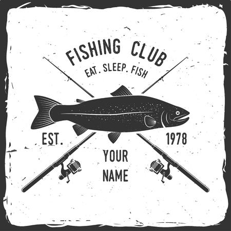 fisher: Fishing sport club. Vector illustration.