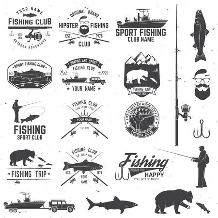 illustrazione vettoriale di sport di pesca . Vettore