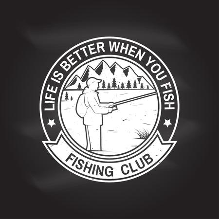 Club de sport de pêche. Illustration vectorielle. Vecteurs