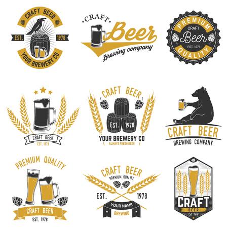 Vintage design for bar, pub and restaurant business. Illusztráció