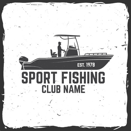 Vissersportclub. Vector illustratie.