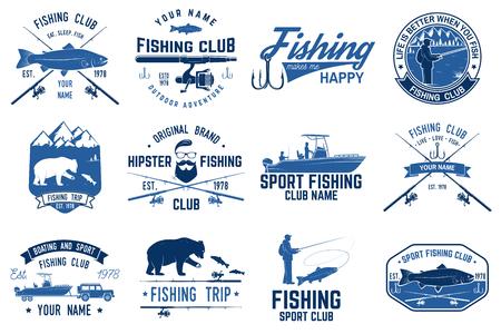 釣りスポーツ クラブ。ベクトルの図。