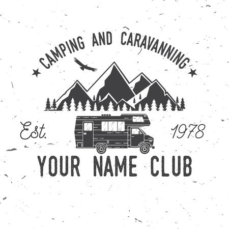 Camping and caravaning club. 일러스트
