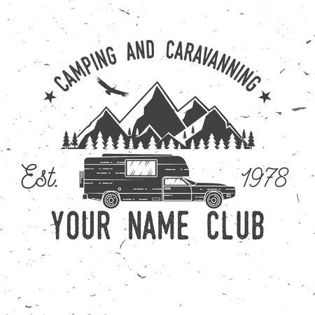 Camping and caravaning club. Illustration