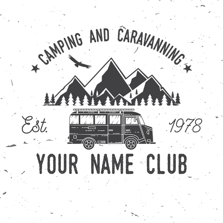Camping and caravaning club. Stock Vector - 84399391