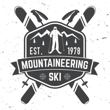 Ski club concept met skiër.