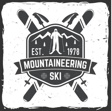 스키어와 스키 클럽 개념입니다. 일러스트
